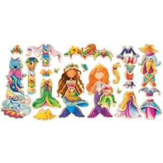 T.S. Shure Daisy Girls Mermaids Wooden Magnetic Dress-Up Doll Set