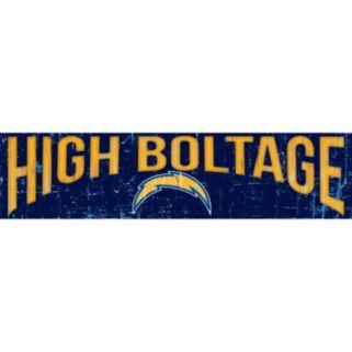 """San DiegoChargers 6"""" x 24"""" Slogan Wood Sign"""