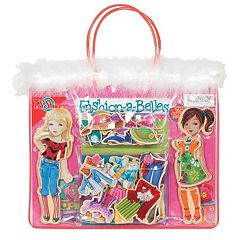 T.S. Shure Fashion-A-Belles Wooden Magnetic Dress-Up Doll Set by