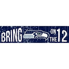 Seattle Seahawks 6' x 24' Slogan Wood Sign