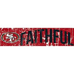 San Francisco 49ers 6' x 24' Slogan Wood Sign