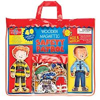T.S. Shure Safety Patrol Wooden Magnetic Action Hero Set