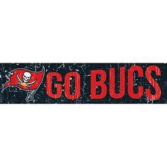 Tampa Bay Buccaneers 6' x 24' Slogan Wood Sign