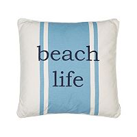 St. Bart ''Beach Life'' Throw Pillow