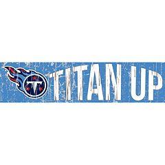 Tennessee Titans 6' x 24' Slogan Wood Sign