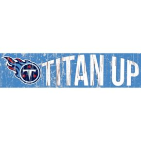 "Tennessee Titans 6"" x 24"" Slogan Wood Sign"