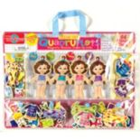 T.S. Shure Teeny Tiny Quadruplets Wooden Magnetic Dress-Up Doll Set