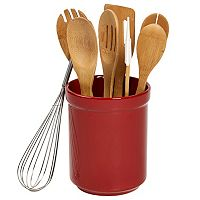 Basic Essentials 8 pc Bamboo Utensil Set