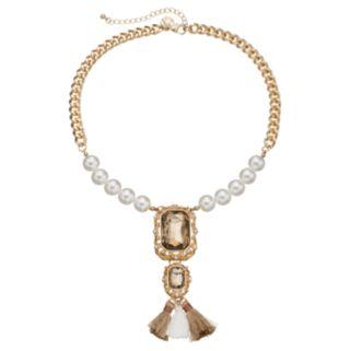 GS by gemma simone Nouveau Baroque Collection Vermeer Tassel Necklace