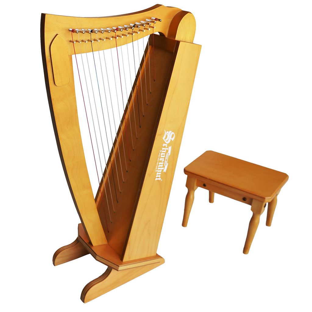 Schoenhut 15-String Harp with Bench