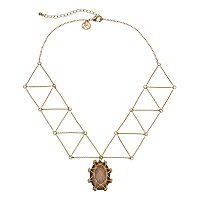 GS by gemma simone Nouveau Baroque Collection Intermezzo Geometric Necklace