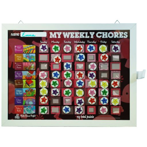 Kids Done Right My Weekly Chores Magnetic Dry-Erase Rewards Chart