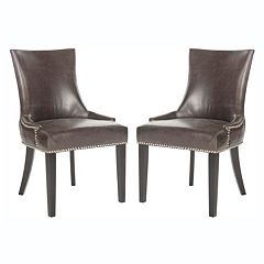 Safavieh 2 pc Lester Antique Brown Dining Chair Set