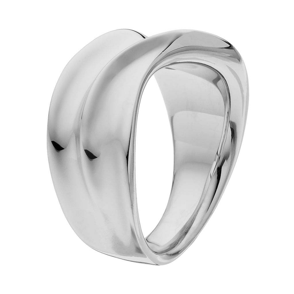 She Sterling Silver Wave Ring