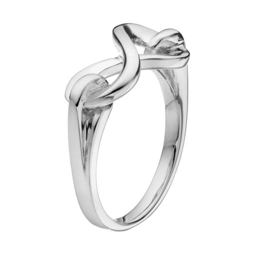 She Sterling Silver Infinity Ring