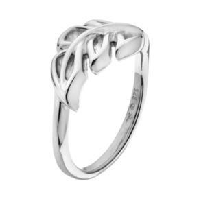 She Sterling Silver Leaf Ring