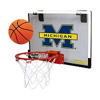 Michigan Wolverines Game On Hoop Set