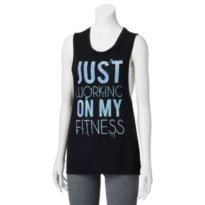 SO® Graphic Print Muscle Tank - Juniors