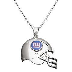 New York Giants Sterling Silver Helmet Pendant Necklace