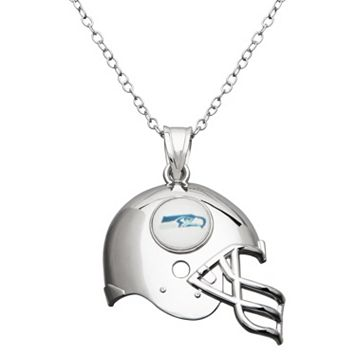 Seattle Seahawks Sterling Silver Helmet Pendant Necklace