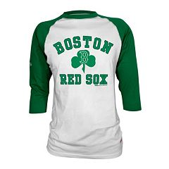 Stitches Boston Red Sox St. Patrick's Day Raglan Tee - Men