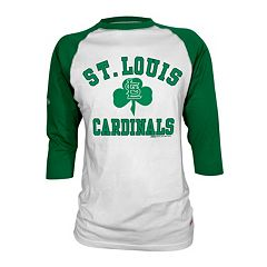 Men's Stitches St. Louis Cardinals St. Patrick's Day Raglan Tee
