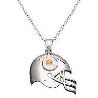 Cleveland Browns Sterling Silver Helmet Pendant Necklace