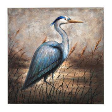 Bombay™ ''Blue Egret'' Canvas Wall Art