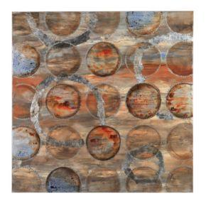Bombay? Bronze ''Circles'' Canvas Wall Art