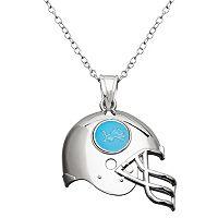 Detroit Lions Sterling Silver Helmet Pendant Necklace