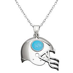 Detroit Lions Sterling Silver Helmet Pendant Necklace