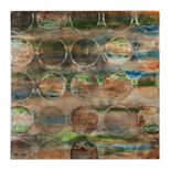 Bombay? Turquoise ''Circles'' Canvas Wall Art