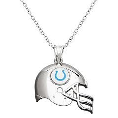 Indianapolis Colts Sterling Silver Helmet Pendant Necklace