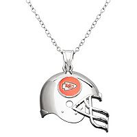 Kansas City Chiefs Sterling Silver Helmet Pendant Necklace