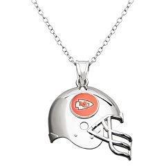 Kansas City Chiefs Sterling Silver Helmet Pendant Necklace