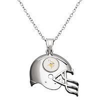 Minnesota Vikings Sterling Silver Helmet Pendant Necklace
