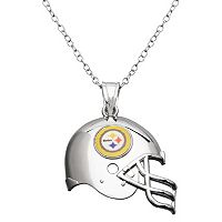 Pittsburgh Steelers Sterling Silver Helmet Pendant Necklace