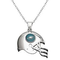 Philadelphia Eagles Sterling Silver Helmet Pendant Necklace