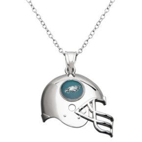 Philadelphia Eagles Sterling Silver Helmet Pendant Necklace