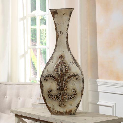Bombay™ Fleur-De-Lis Distressed Vase