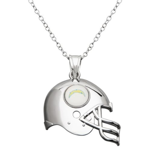 San Diego Chargers Sterling Silver Helmet Pendant Necklace