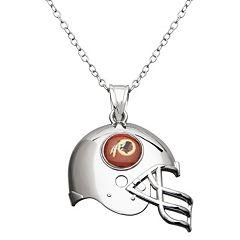Washington Redskins Sterling Silver Helmet Pendant Necklace