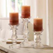 Bombay 3-piece Leaf Candleholder Set