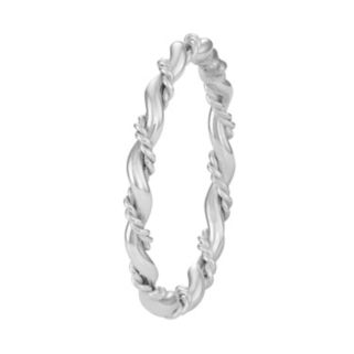 Journee Collection Sterling Silver Twist Ring