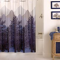 Excell Misty Mountain PEVA Shower Curtain