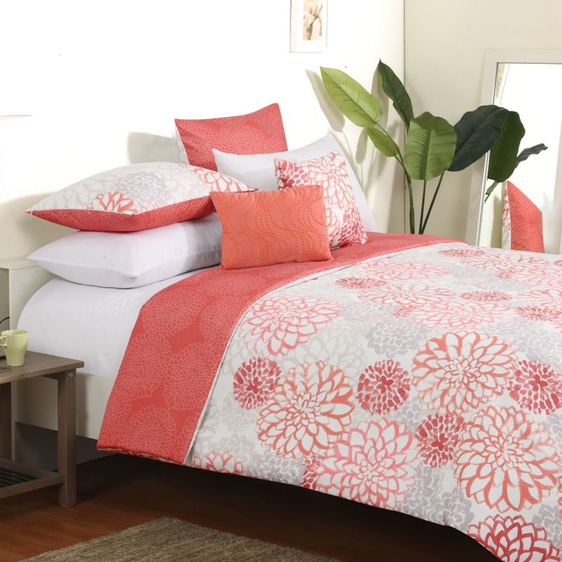Bedding queen turquoise and white bedding pink and turquoise bedding - Coral Reversible Bedding Kohl S