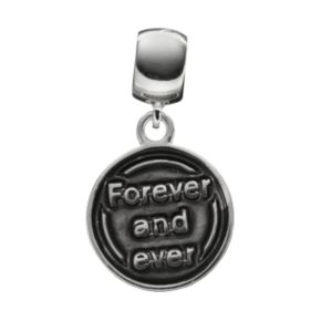 """Individuality Beads Crystal Sterling Silver Bead &  """"Love"""" Disc Charm Set"""