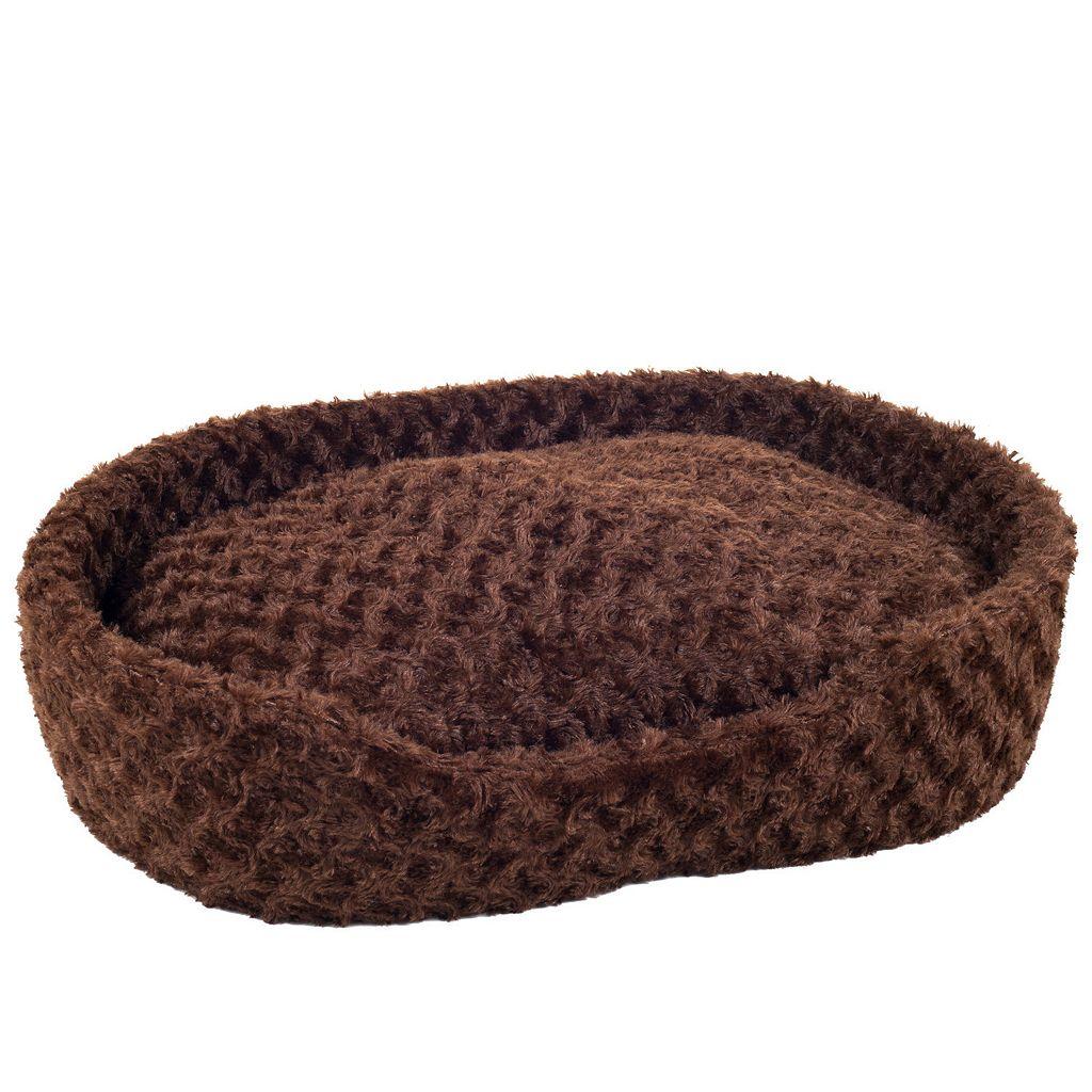 PAW Cuddle Round Plush Pet Bed - 14'' x 24''