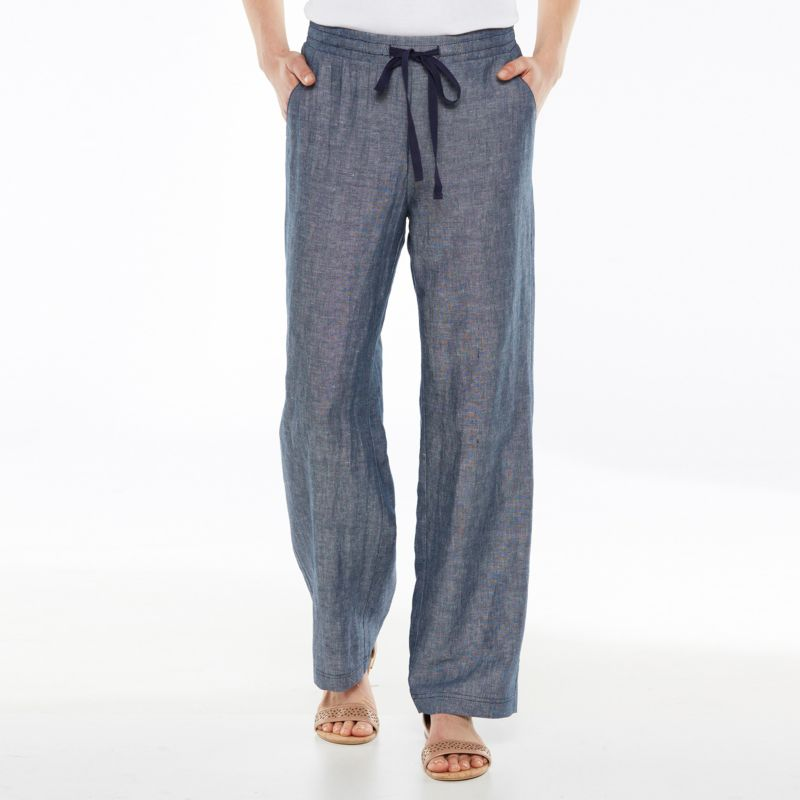 Popular Linen Wide Leg Pants Plus Size  Pi Pants