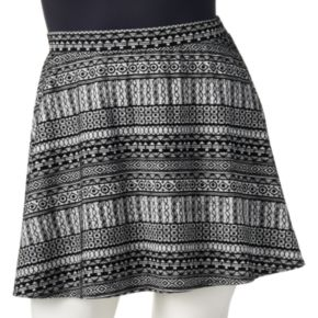 Joe B Flocked Skater Skirt - Juniors' Plus